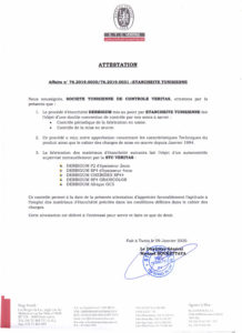 ATTESTATION STC VERITAS-1
